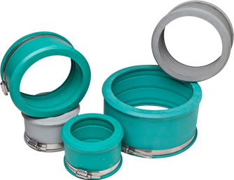 Qwikseal service pipe connectors fernco canada for Connecting copper pipe to pvc