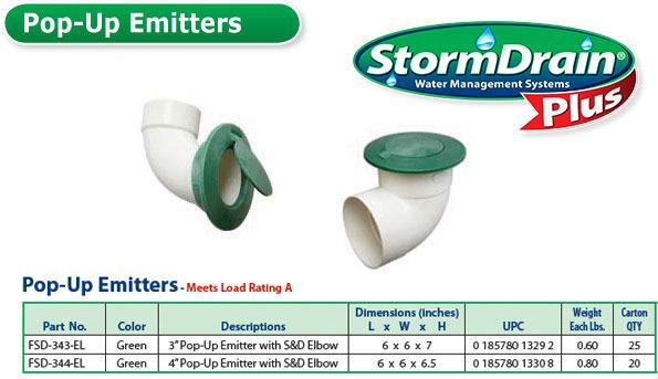 Pop Up Emitters Stormdrain Plus Fernco Canada