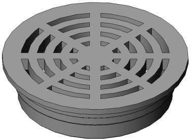 FSD-060-R, Rnd Grt Bottom Outlet